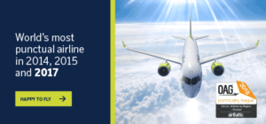 airBaltic the most punctual airline