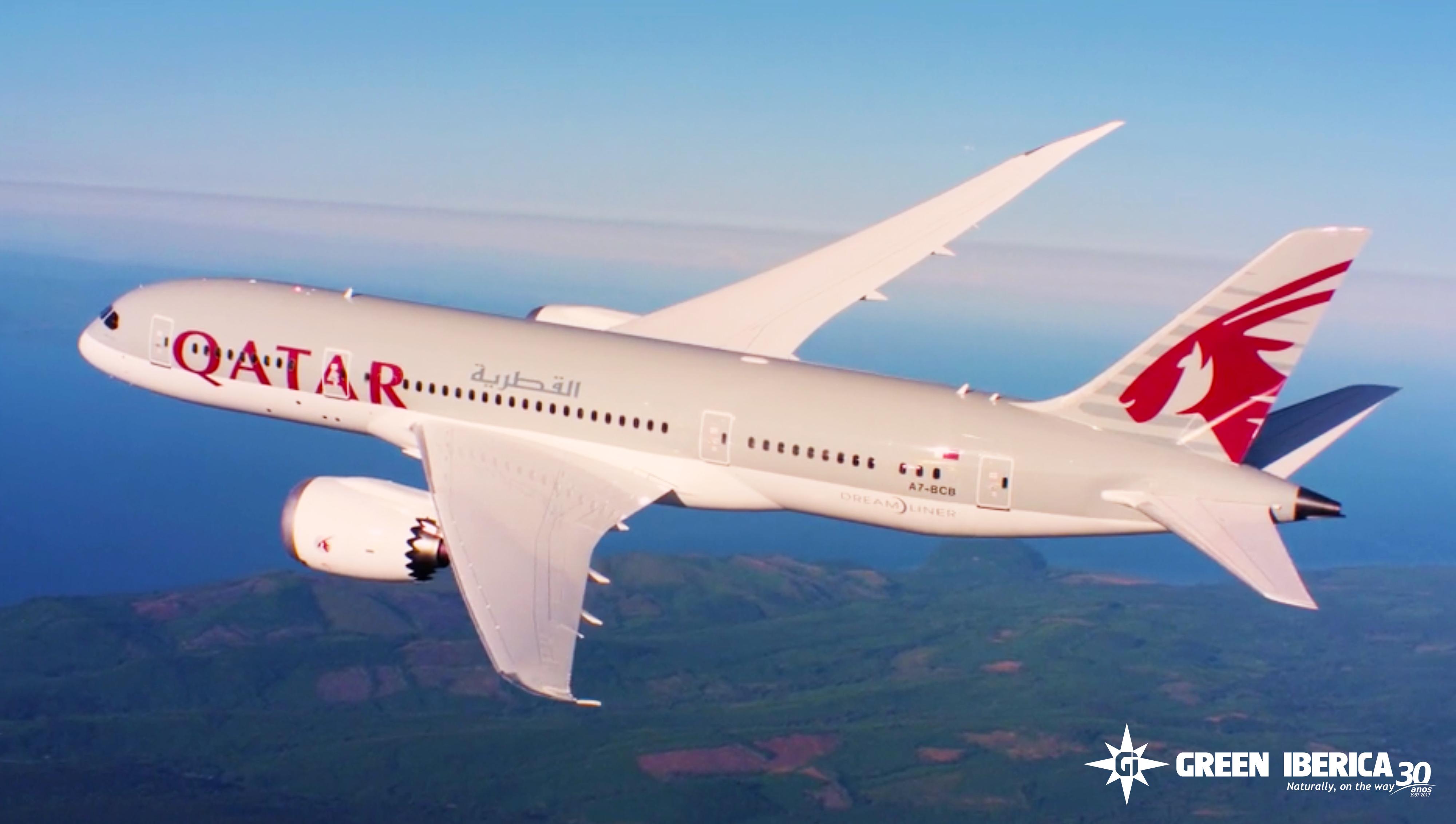 Qatar Airways cargo, Airplane, Aircraft, Aircargo, Green Ibérica