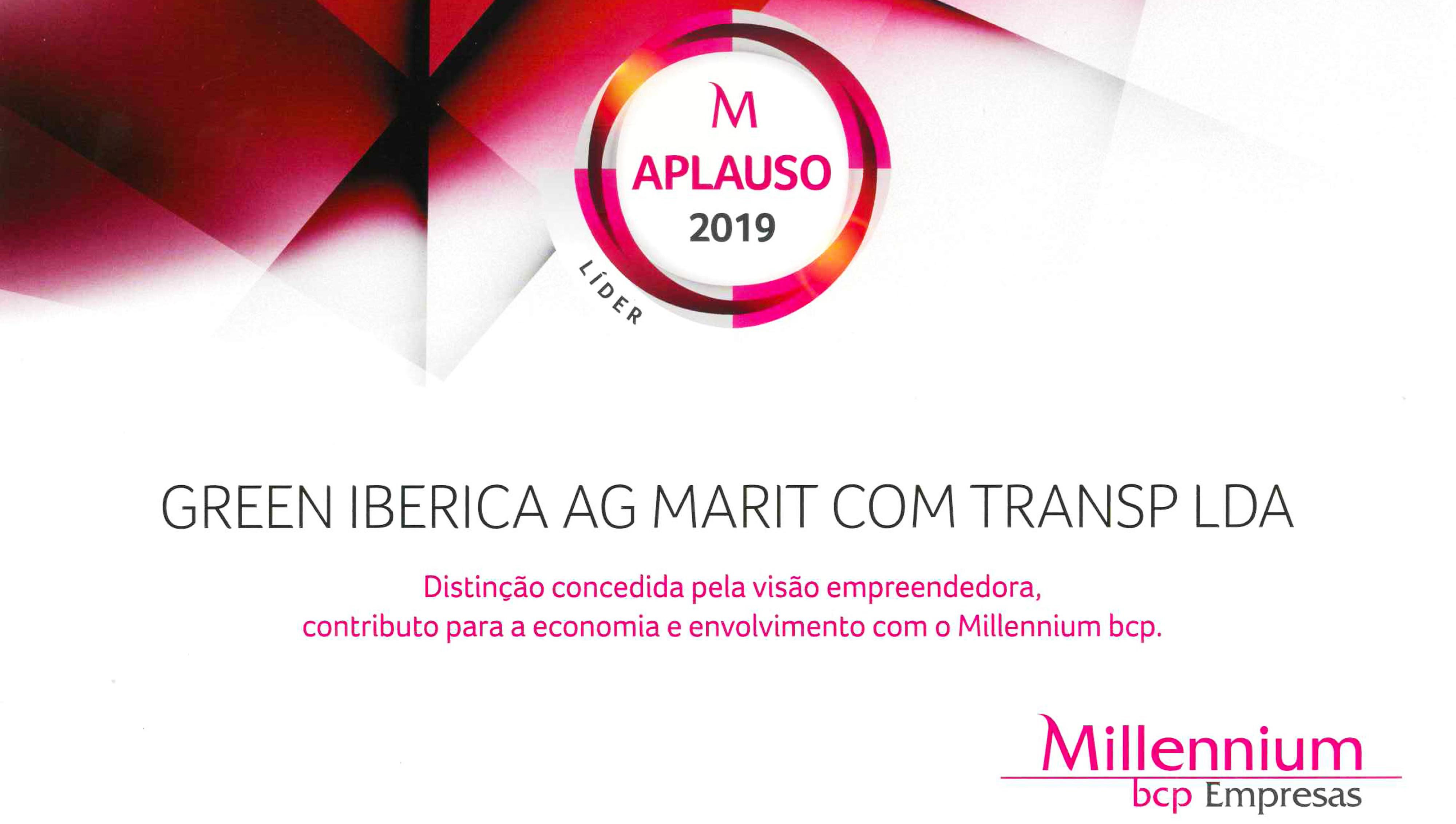 Empresa Aplauso 2019 - Green Ibérica